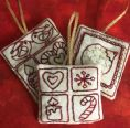 8 Seasonal Stitchery Ornaments